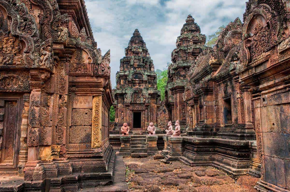 Heimsókn Angkor Wat, Kambódía