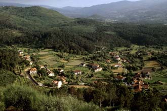 Krajolik Alto Minho, sjeverni Portugal