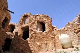 Pormenor do magnífico celeiro de Nalut, Líbia