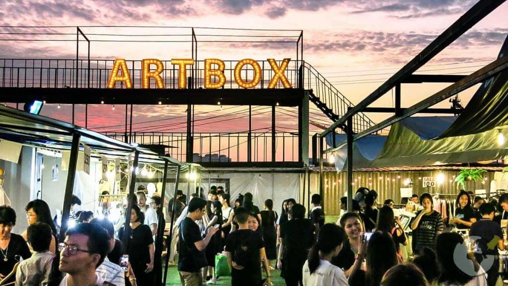 Mercado Artbox em Bangkok