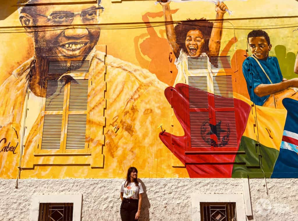Arte urbana na Praia, ilha de Santiago, Cabo Verde
