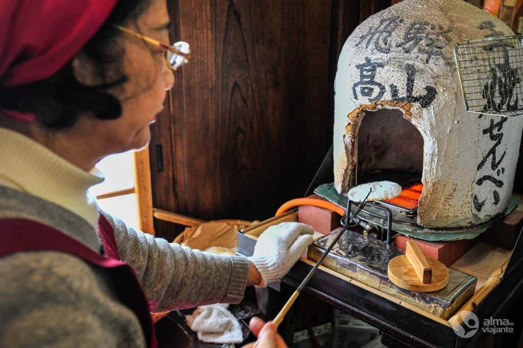Gastronomia de Takayama: biscoito de arroz