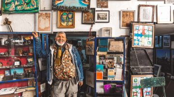Umelec v Tanger