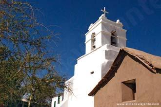 Pormenor de uma igreja em San Pedro de Atacama