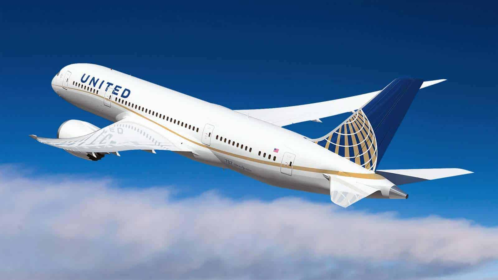 Avião da United Airlines