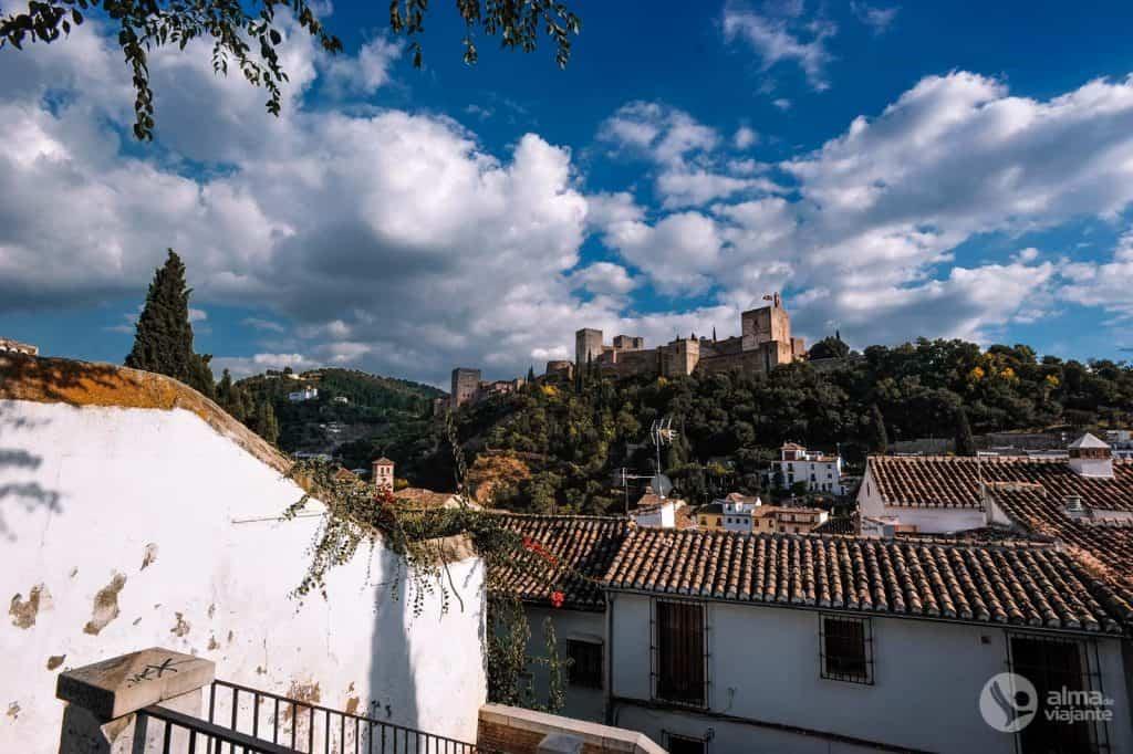 Alhambra útsýni yfir Albaicin