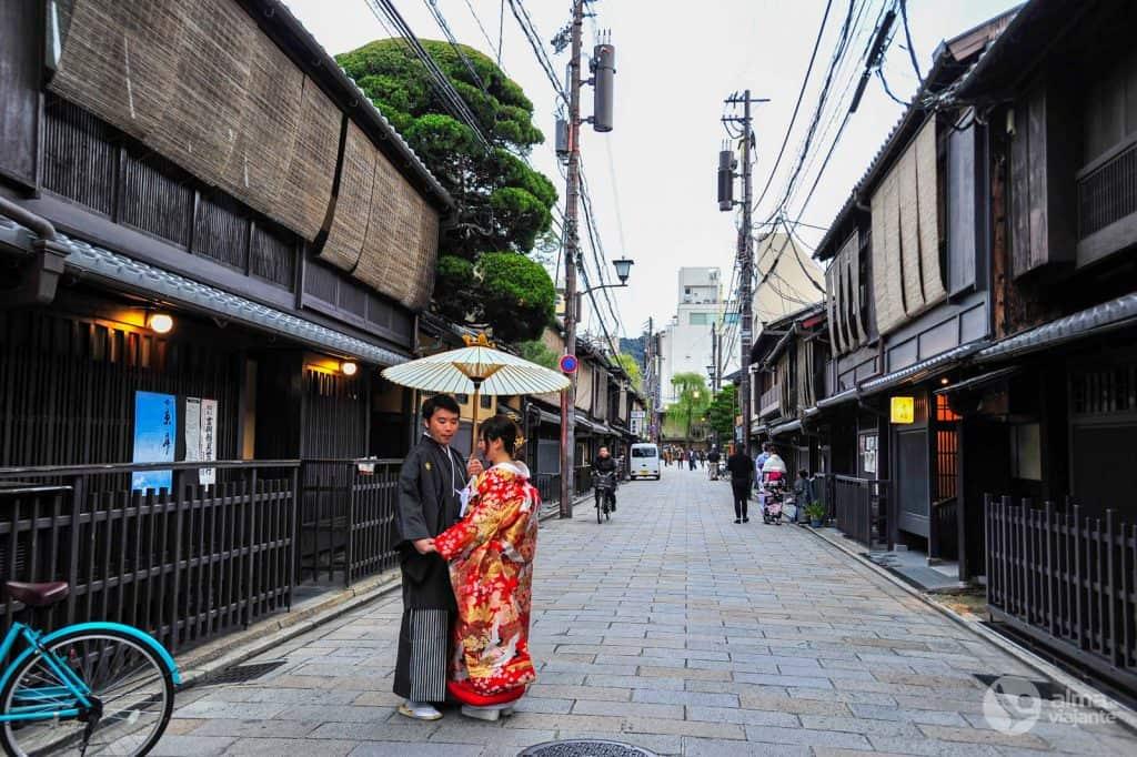 Casal japonês em Gion, Kyoto