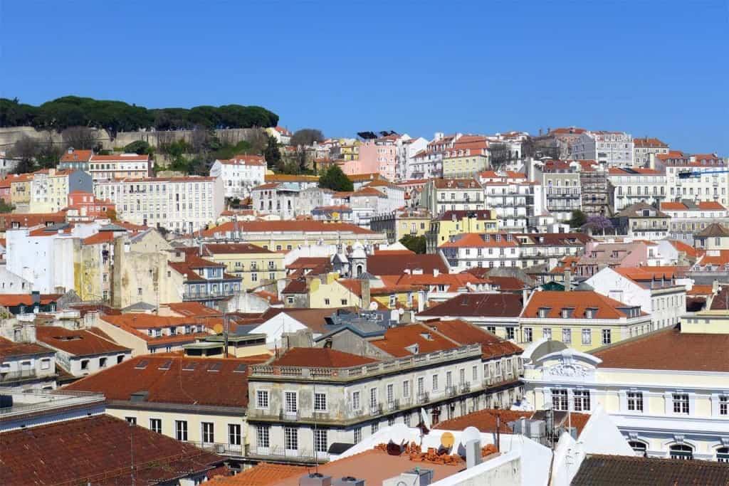 Vista da Baixa de Lisboa e Castelo de São Jorge