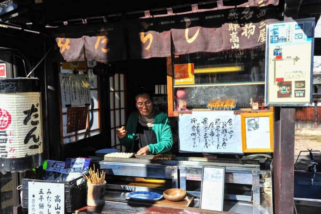 Quiosque de rua em Takayama