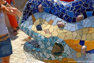 Barcelona: Provavelmente, o lagarto mais fotografado de toda a Espanha