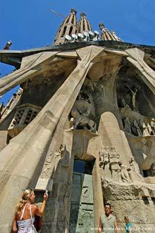 Fotografando a Fachada da Paixão, Sagrada Família, Barcelona