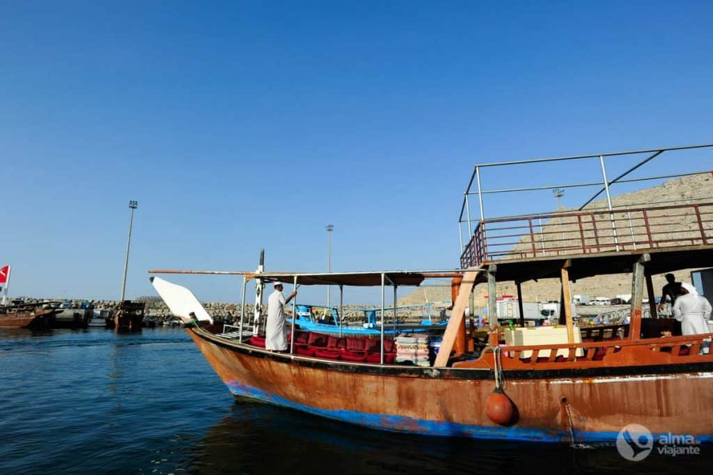 Barco dhow em Khasab, Musandam