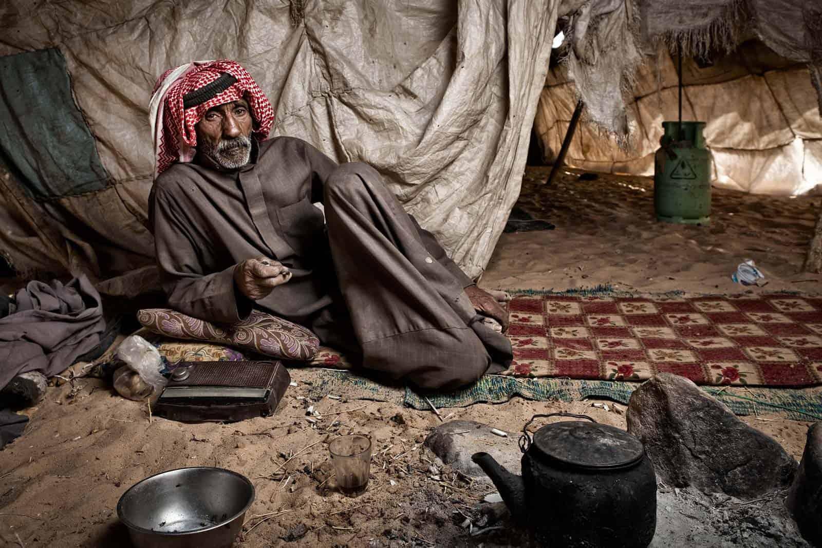 Beduíno em Petra, Jordânia
