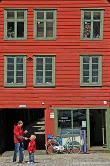 Zona histórica de Bergen, Noruega