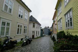 Bairro residencial de Bergen, Noruega
