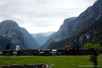 Miradouro do Hotel Salhein, na estrada de Stalheimskleiva, Noruega