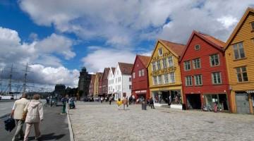 Bergeno miesto centras, Norvegija