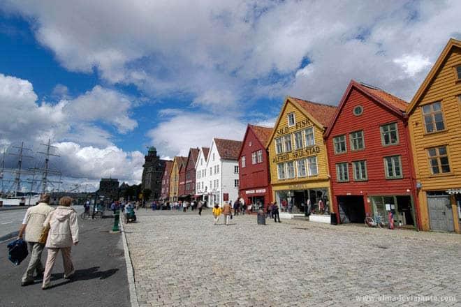 Bryggen, velha Bergen