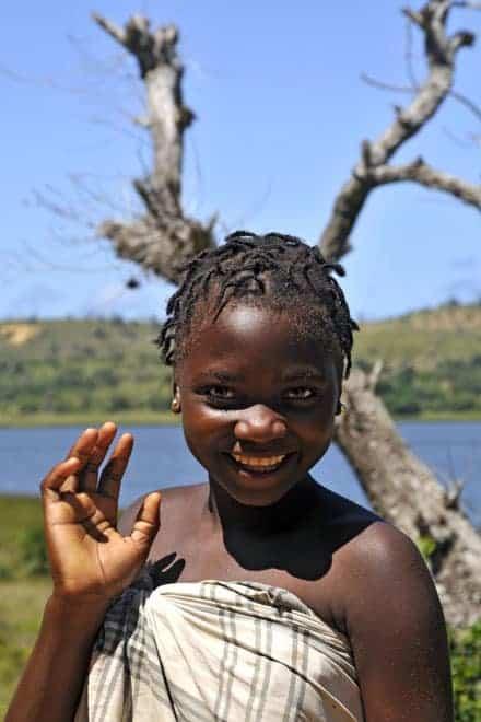 A simpatia de uma jovem moçambicana