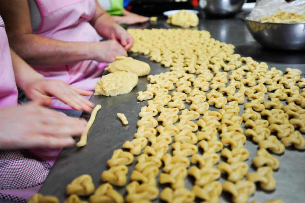 Biscoitos de orelha tradicionais de Santa Maria