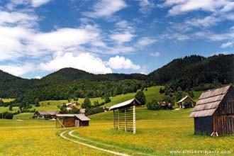 Paisagem a caminho do lago Bled, Eslovénia