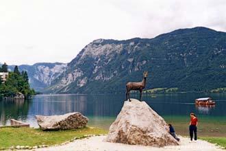 Vista do lago Bled, Eslovénia
