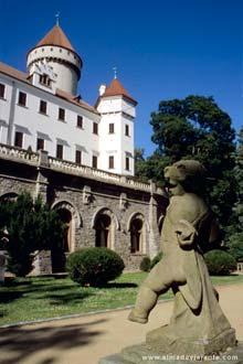 Castle of Konopiste á ferð til Bohemia