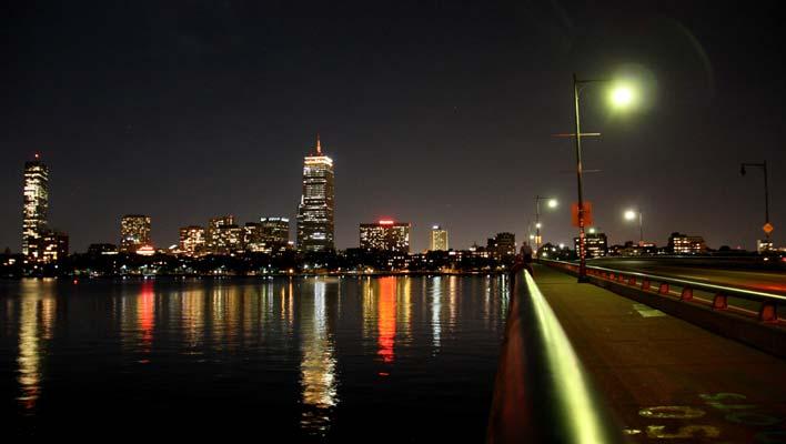 Visitar Boston à noite