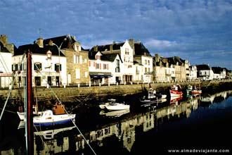 O porto de Le Croisic, Bretanha