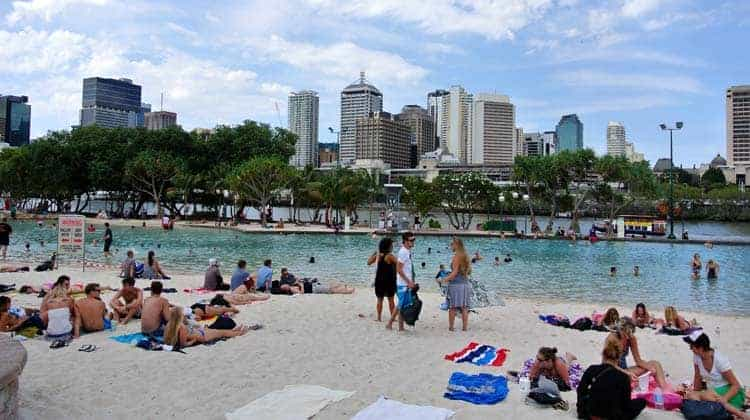 Southbank Artificial Beach, Brisbane