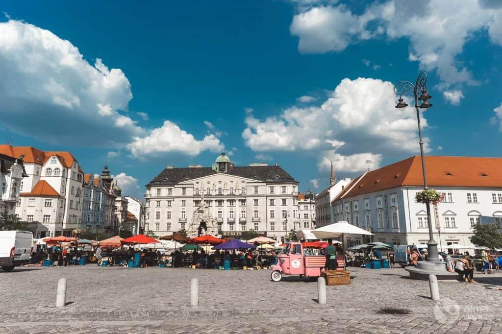 Ką pamatyti Brno: Augalų rinkos aikštė