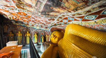 Mulkirigala, um magnífico templo escavado na rocha no sul do Sri Lanka