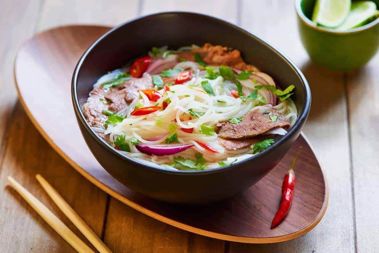 Bun bò, sopa de noodles de arroz