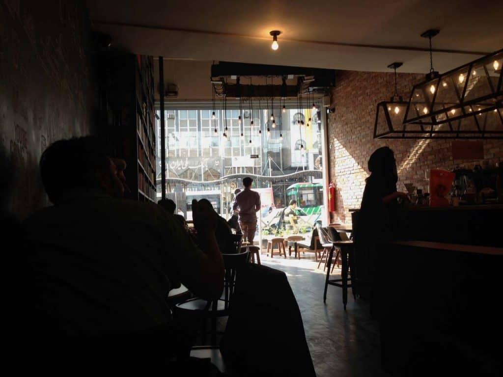 Café Lamiz, em Teerão