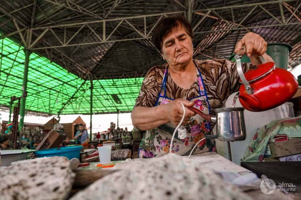 Café no Mercado de Stepanakert