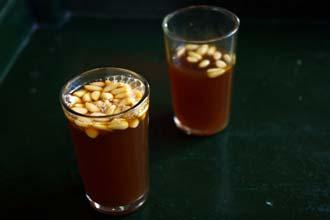 Chá com pinhões, uma especialidade tunisina