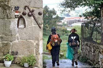 Peregrinos no Caminho Português de Santiago