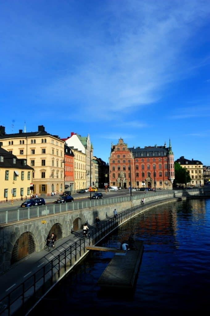 Piquenique nos canais de Estocolmo