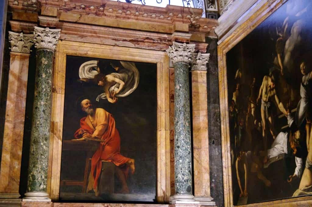 Caravaggio í San Luigi dei Francesi, Róm