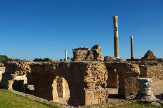 Rústir Carthage, forn Phoenician borg í Norður-Túnis