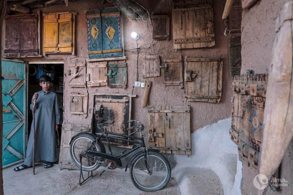 Casa de adobe em Ushaiqer, Arábia Saudita