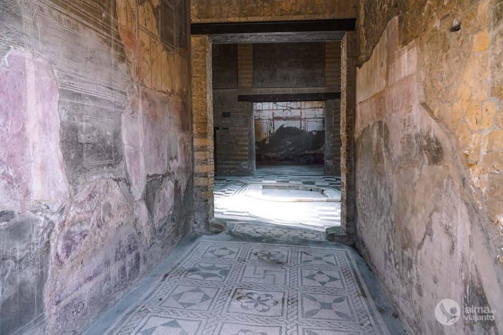 Casa do Átrio - Mosaico, Parque Arqueológico de Herculano