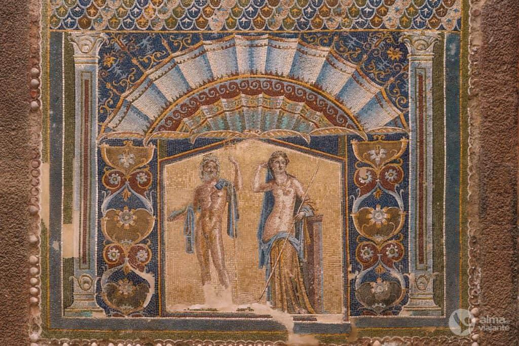 O que ver em Herculano: Casa de Neptuno e Anfitrito