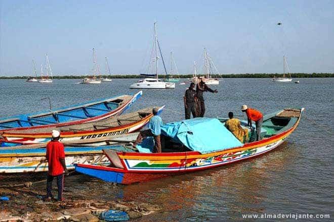 Pescadores em Casamansa