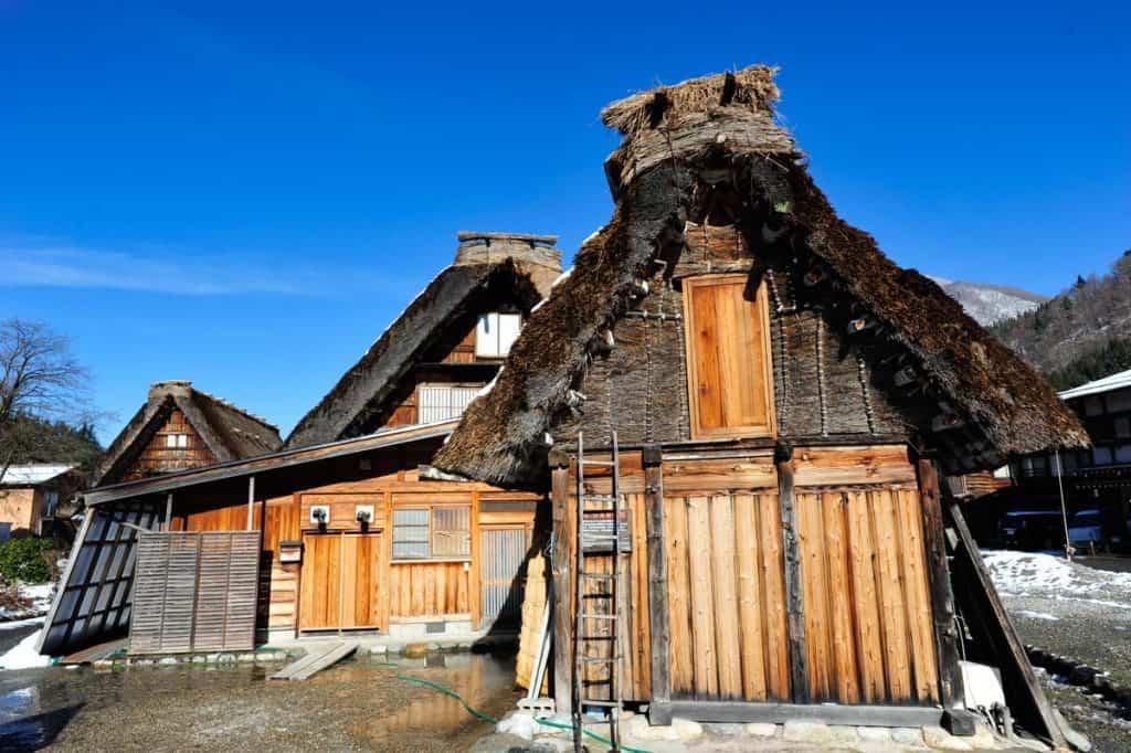 Casas tradicionais em Shirakawa-go, Japão