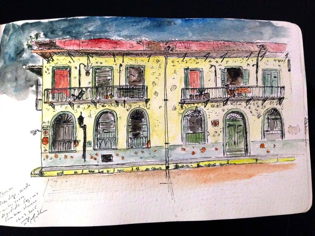 Casas Heurtematte no Casco Viejo da Cidade do Panamá