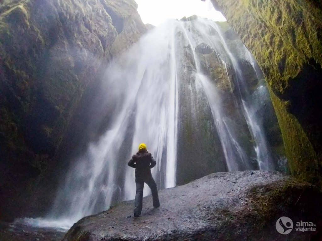Fotografavimas su telefonu: Gljufrabuí, Islandija