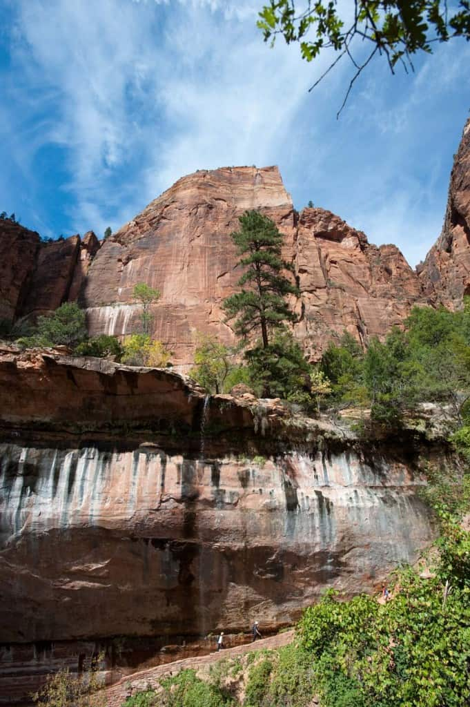 Cascata no trilho Weeping Rock Trail, Zion