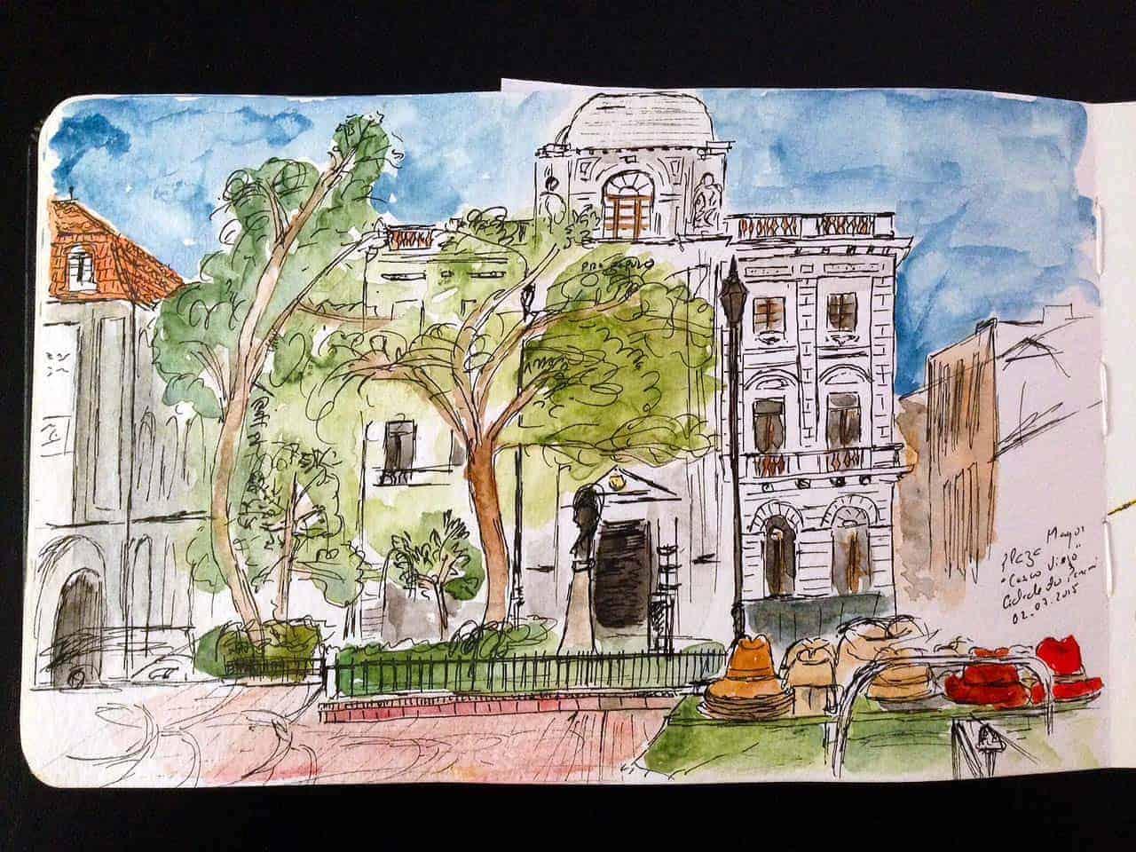 Casco viejo cidade do panam em sketchs alma de viajante - Casco antiguo de lisboa ...