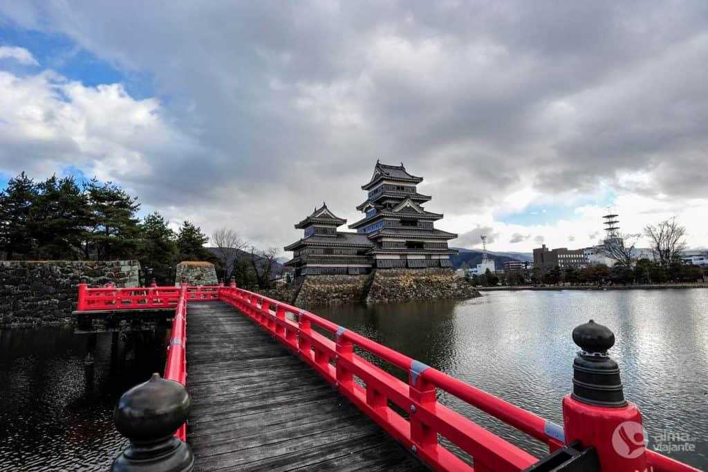 Vista do Castelo de Matsumoto, Japão